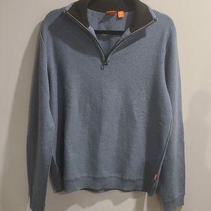 Hugo Boss 1/4 zip virgin wool sweater